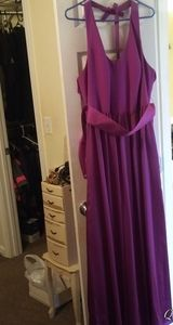 Fuchsia colored bridesmaid gown or prom dress